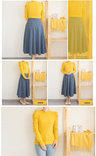 Load image into Gallery viewer, Mustard Puff Sleeve Pullover, T-Shirt - MySiliconDreams