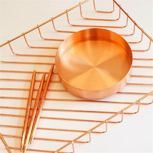 Nordic Copper Storage Tray, Homewear - MySiliconDreams