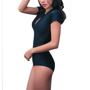 One Piece Zipper Swimsuit, swimwear - MySiliconDreams
