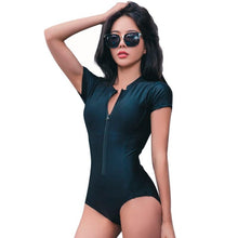 Load image into Gallery viewer, One Piece Zipper Swimsuit, swimwear - MySiliconDreams
