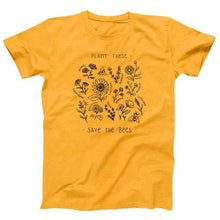 Load image into Gallery viewer, Plant These to Save The Bees Cotton Wildflower T-Shirt, T-Shirts - MySiliconDreams