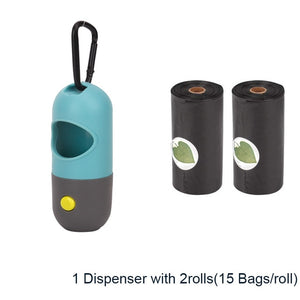Poop Bags Dispenser with Flashlight