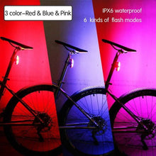 Load image into Gallery viewer, Rechargeable Bicycle Rear LED Light, Light - MySiliconDreams
