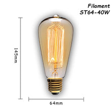 Load image into Gallery viewer, Retro lamp st64 vintage edison bulb e27 incandescent bulb 110v 220v holiday lights 40w 60w filament lamp lampada for home decor, House - MySiliconDreams