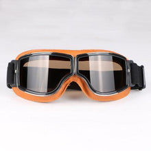 Load image into Gallery viewer, Retro Style Vintage Leather Motorcycle Goggles, Mobility - MySiliconDreams