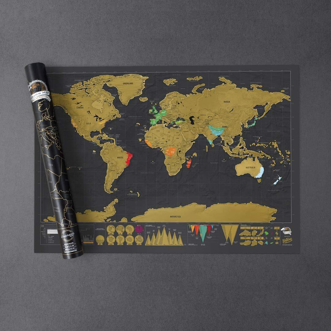 Scratch Map World Poster Deluxe Edition, Map - MySiliconDreams