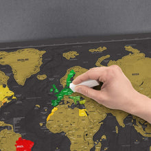 Load image into Gallery viewer, Scratch Map World Poster Deluxe Edition, Map - MySiliconDreams