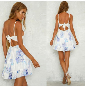 Sexy Backless Lace Beach Summer Dress, Dress - MySiliconDreams