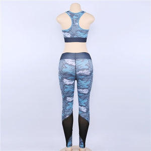 Sexy Camouflage Mesh Fitness & Athletic Sport Suit,  - MySiliconDreams