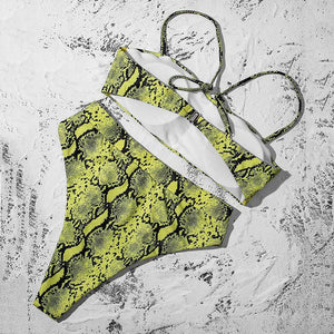 Sexy High Waist Padded Bra Push Up Bikini, Swimwear - MySiliconDreams