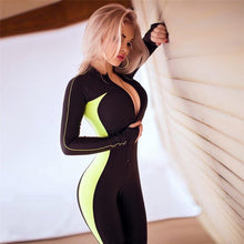 Load image into Gallery viewer, Sexy Zipper Tracksuit Ensemble, Sportswear - MySiliconDreams