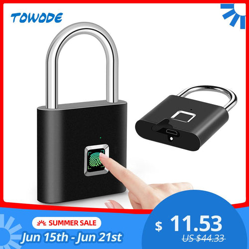 Smart Lock Fingerprint Padlock, Lock - MySiliconDreams