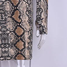 Load image into Gallery viewer, Stretchy Snake Skin Mini Dress, Dress - MySiliconDreams