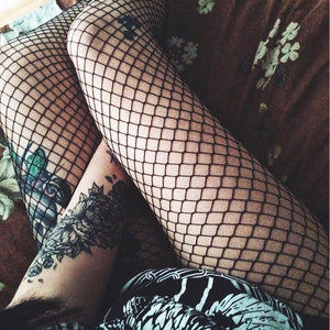 Super Sexy Thigh High Fishnet Stockings, stockings - MySiliconDreams