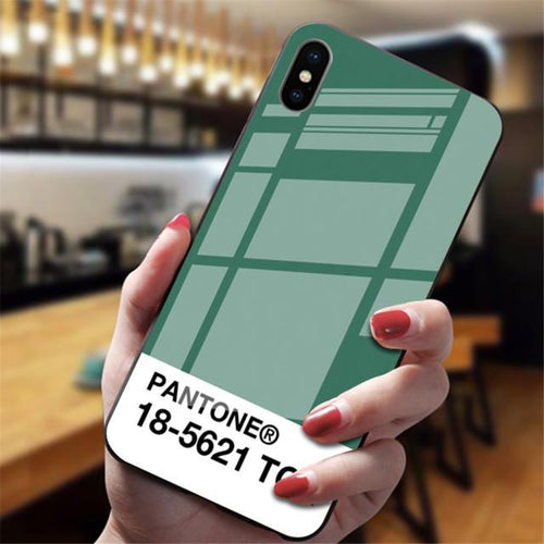 Tempered Glass Pantone iPhone Case, Smartphone Case - MySiliconDreams