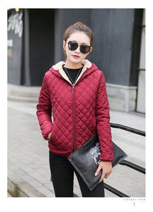 Velvet Lamb Cotton Hooded Parka Jacket, Jacket - MySiliconDreams