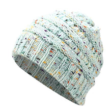 Load image into Gallery viewer, Warm and Fashionable Ponytail Winter Beanie, Headwear - MySiliconDreams
