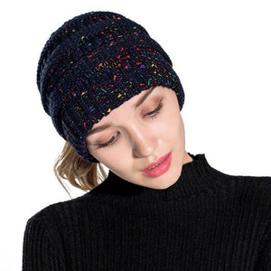 Warm and Fashionable Ponytail Winter Beanie, Headwear - MySiliconDreams