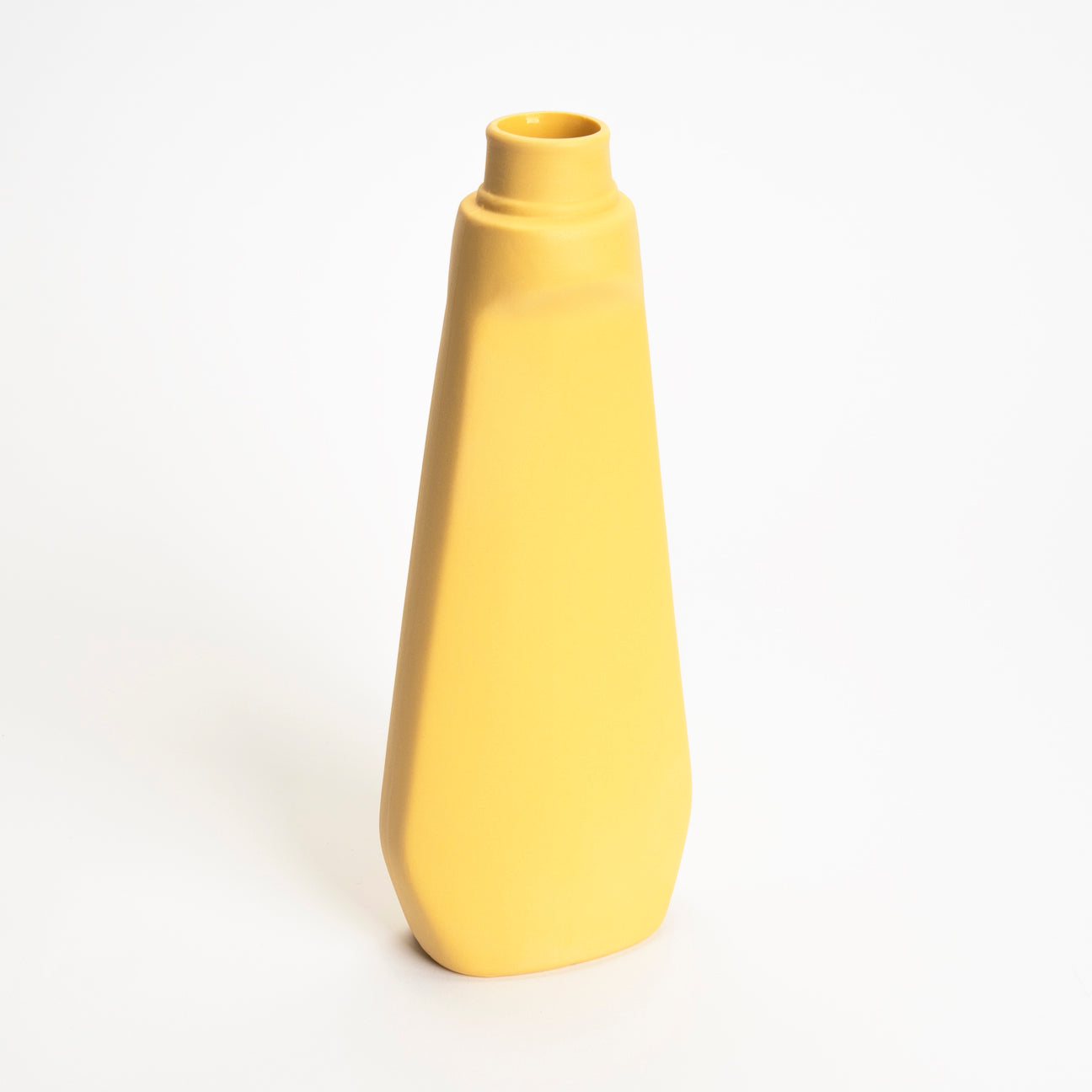 Bottle Vase #4 in Warm Yellow