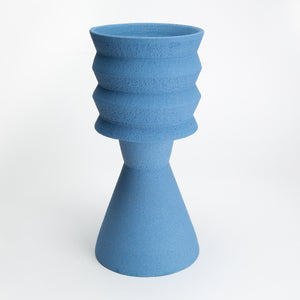 Two-Part Plant Pot in Blue