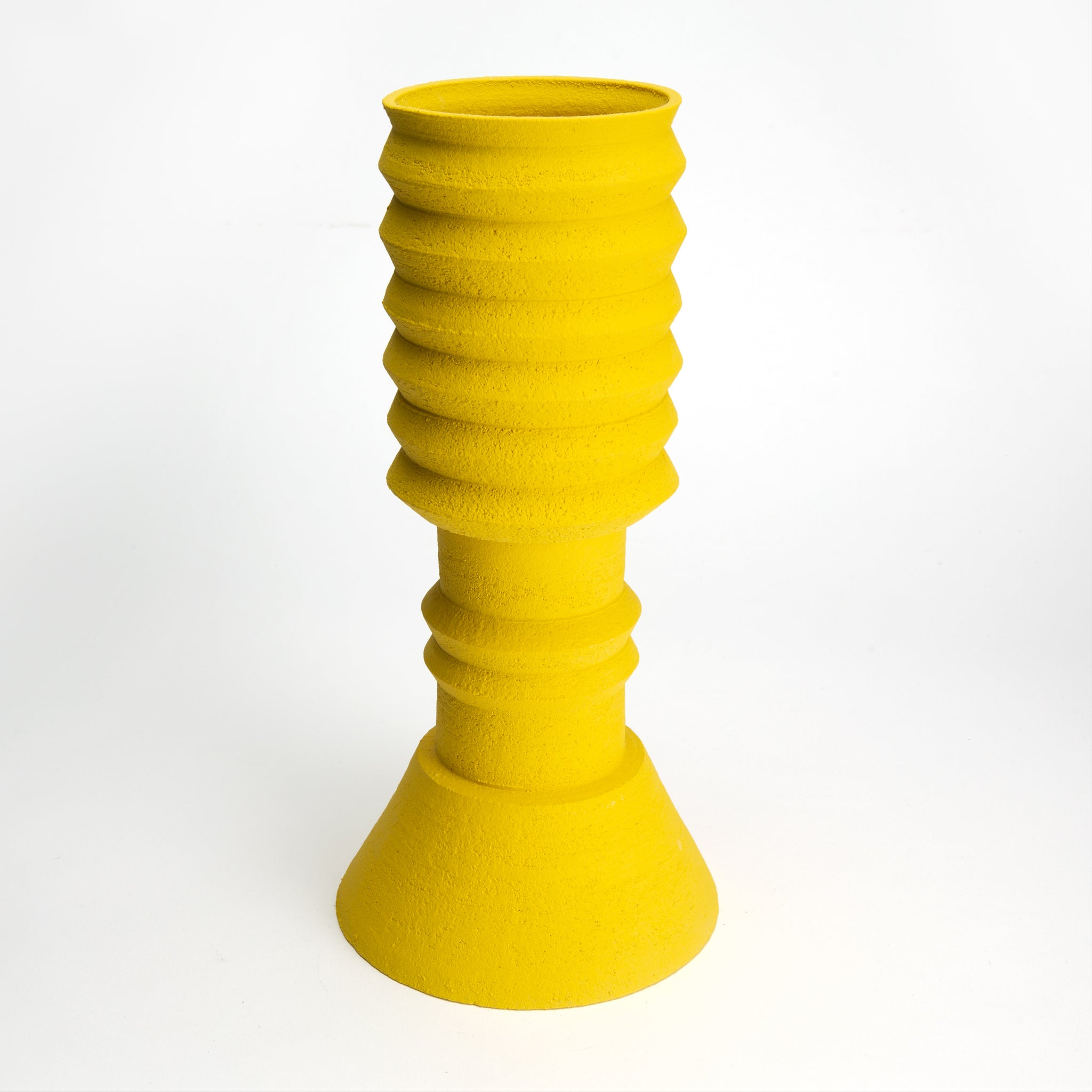 Two-Part Plant Pot in Yellow