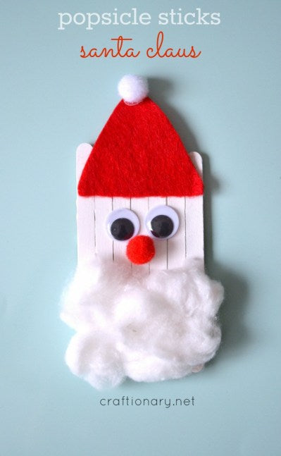 Popsicle sticks Santa