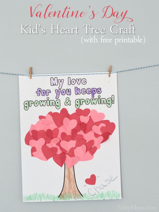 Heart Tree Craft for Kids {Valentine's Day}