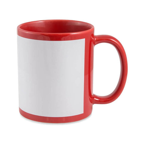 Coloured Mug Red and white
