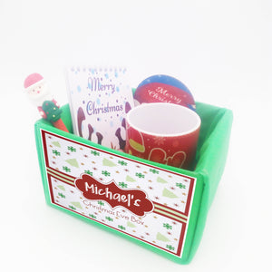 Personalised Christmas Gift Eve Box - RED PATTERN DESIGN