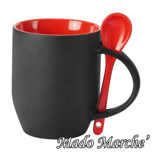 Custom Black Magic Mug with spoon