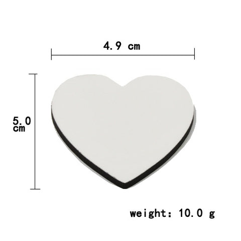Image of Hardboard Magnet Heart Shape