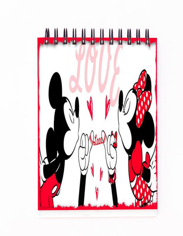 Mickey & Minnie Love Block Note
