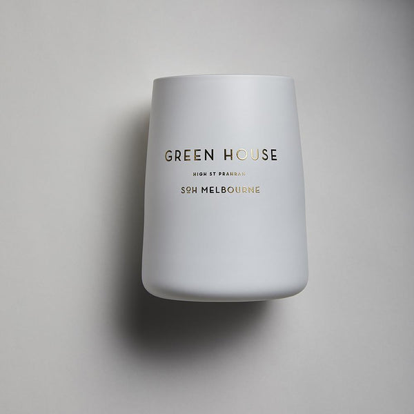 White SOH Candles - Green House