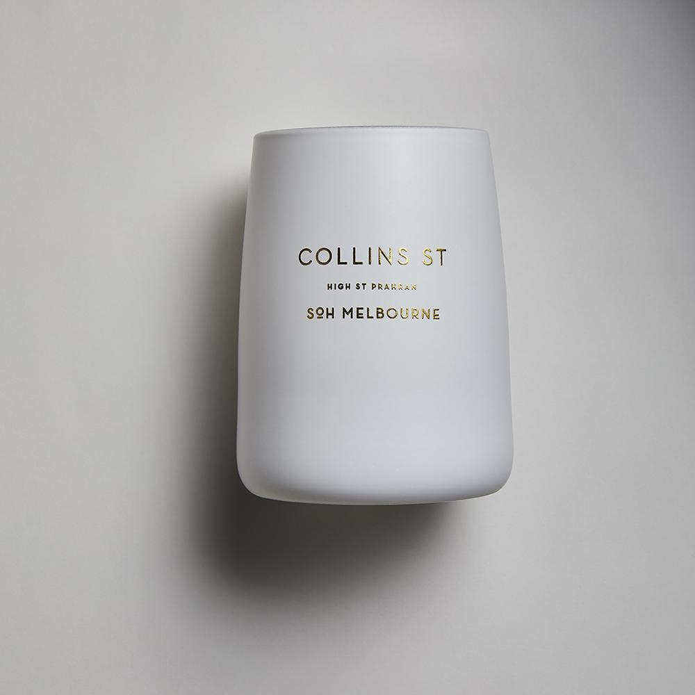 White SOH Candles - Collins Street