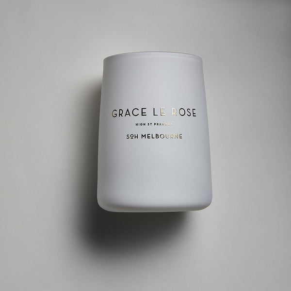 White SOH Candles - Grace Le Rose