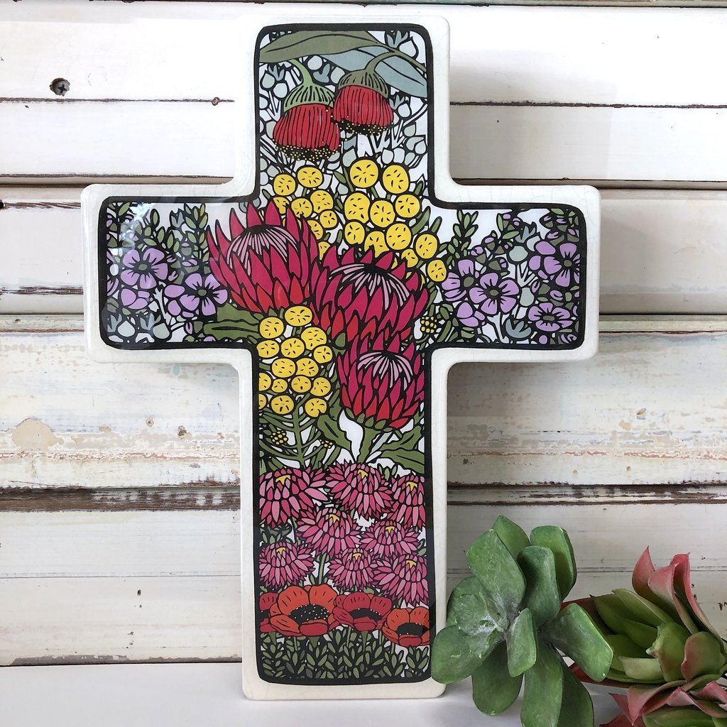 Wild Flower Cross- Large