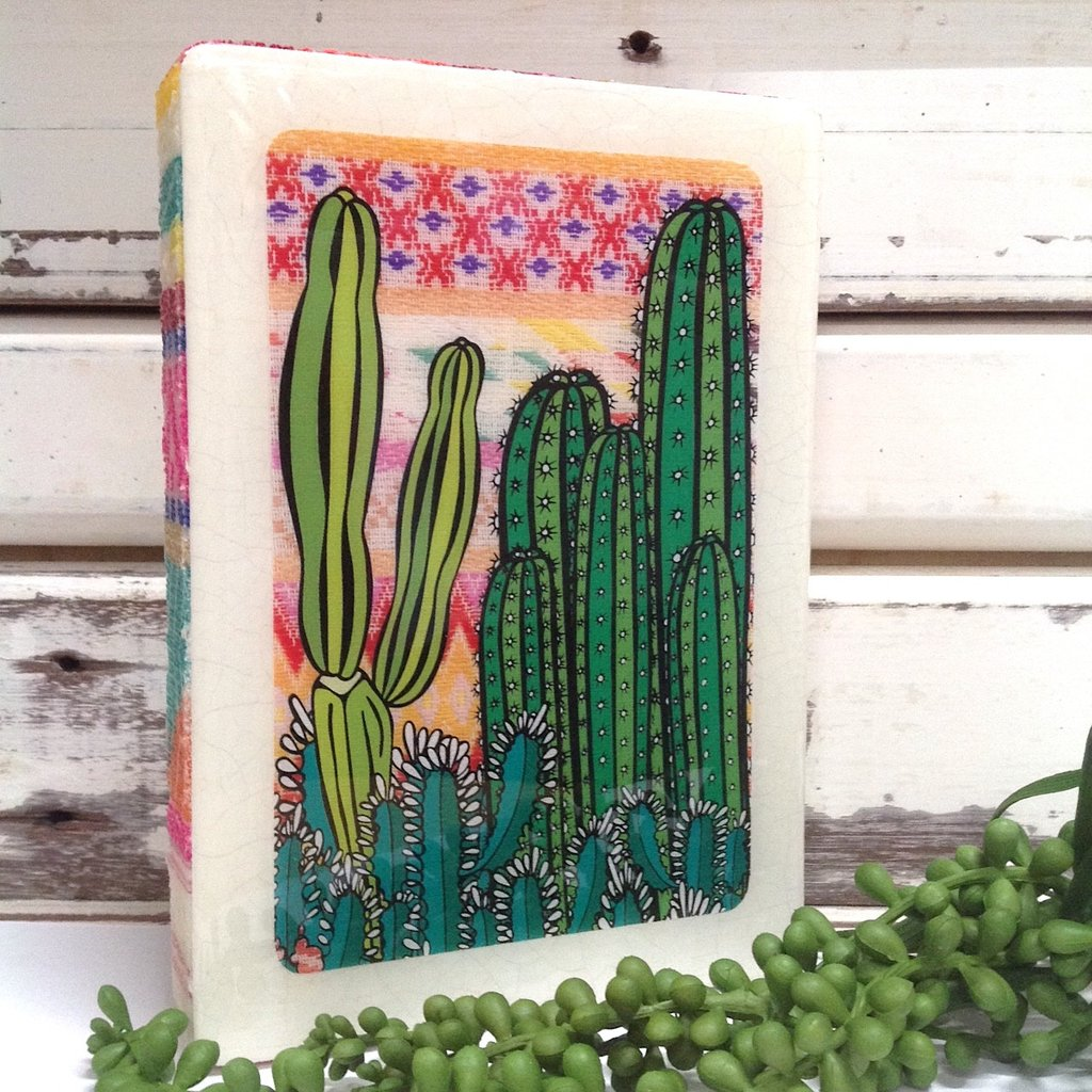 Medi Woodblock - Cactus Sunset
