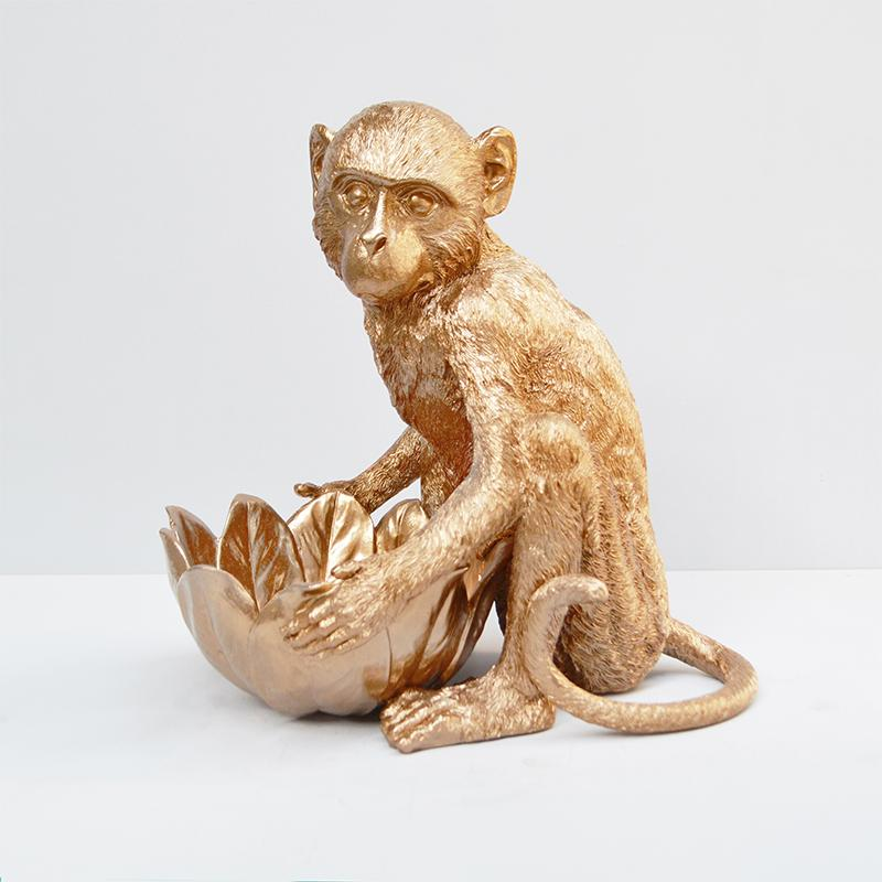 Resin Monkey Bowl