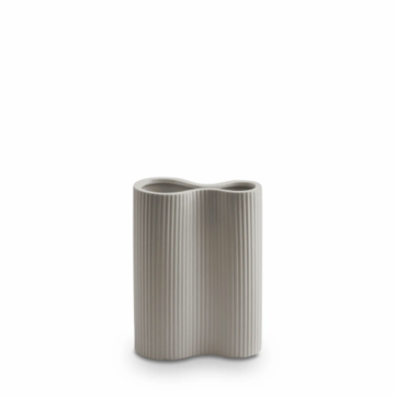 Ribbed Infinity Vase (s) - Light Grey
