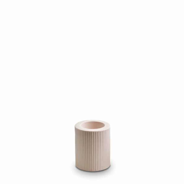 Ribbed Infinity Candle Holder (m) - Nude