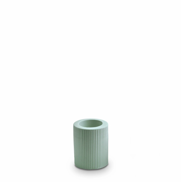 Ribbed Infinity Candle Holder (m) - Blue
