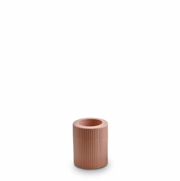 Ribbed Infinity Candle Holder (m) - Ochre