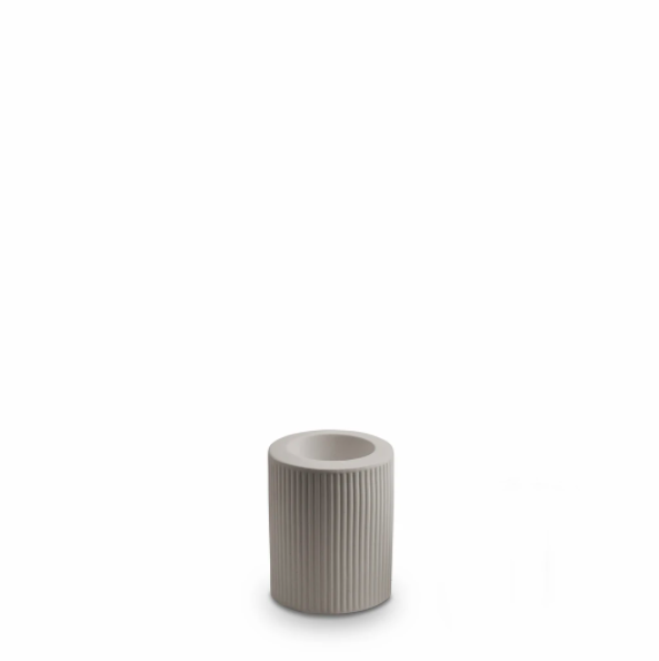 Ribbed Infinity Candle Holder (m) - Light Grey