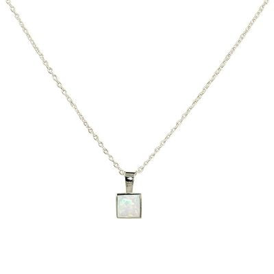 Square opal - Necklace