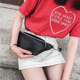 Fashion Chain Leather Fanny Pack