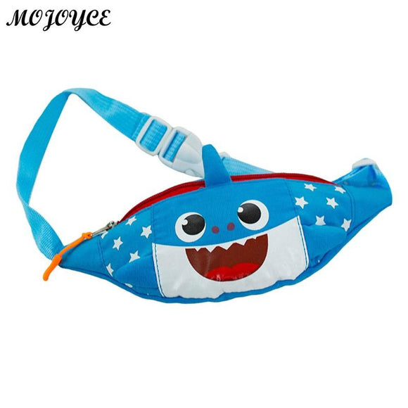 Cute Kids Boys Girls Shark Hobos Shoulder Waist Fanny