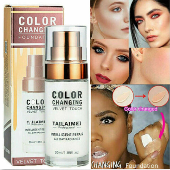 Liquid Color Changing Foundation Makeup Waterproof