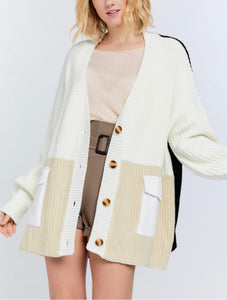 Phoebe Colorblock Cardigan Jacket