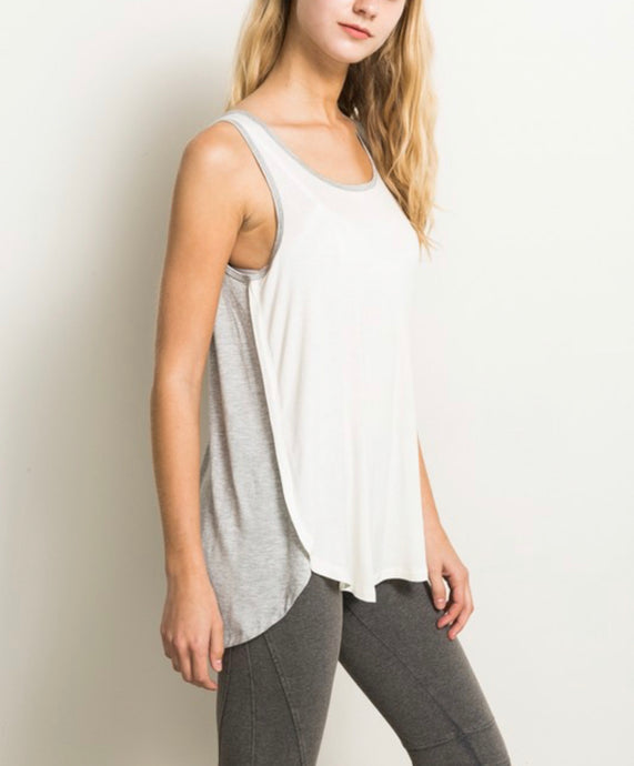 Two-toned Strappy Tank
