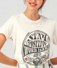 Load image into Gallery viewer, Stay Positive Graphic Tee